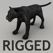 Panther Rigged 3d model