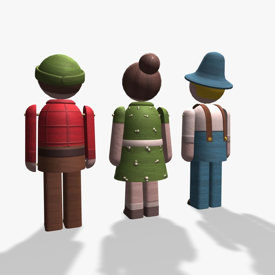 Toy tecken royalty-free 3d model - Preview no. 6