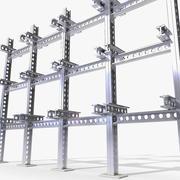 Fixation montée Fixation Système de montage Cadre Luminaire Luminaire mural (2) 3d model