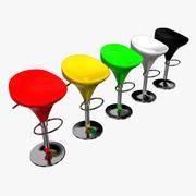 바 의자 3d model