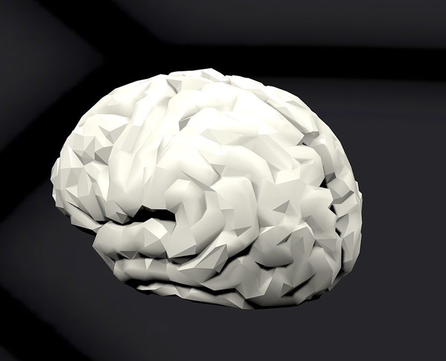 Halv hjärnstruktur texturerad royalty-free 3d model - Preview no. 10