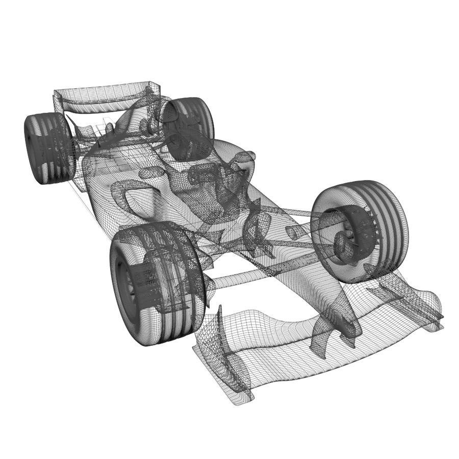 Formule 1 royalty-free 3d model - Preview no. 3