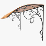 Wrought Iron Awning 10 3d model