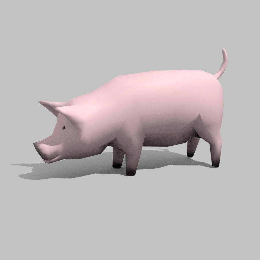 Schwein royalty-free 3d model - Preview no. 6