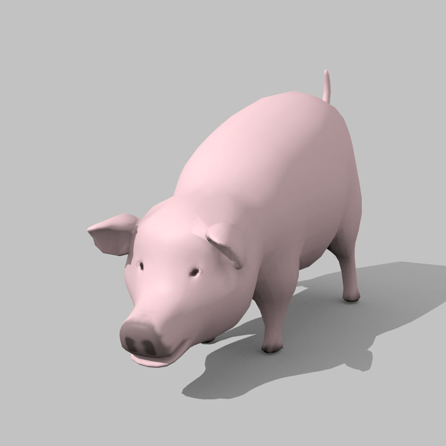 Schwein royalty-free 3d model - Preview no. 5