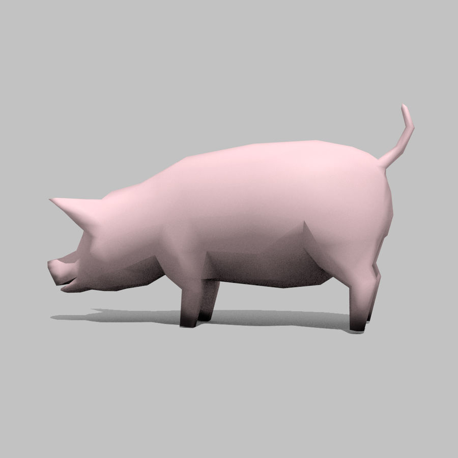 Schwein royalty-free 3d model - Preview no. 8