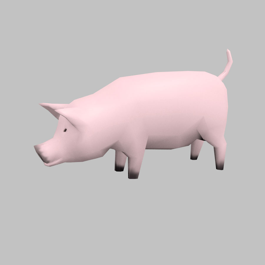 Schwein royalty-free 3d model - Preview no. 7