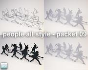 ludzie cały styl - pakiet 09 3d model