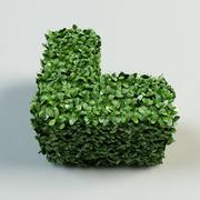 köşe çit topiary çalı 3d model
