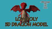 낮은 폴리 3D 드래곤 모델 3d model