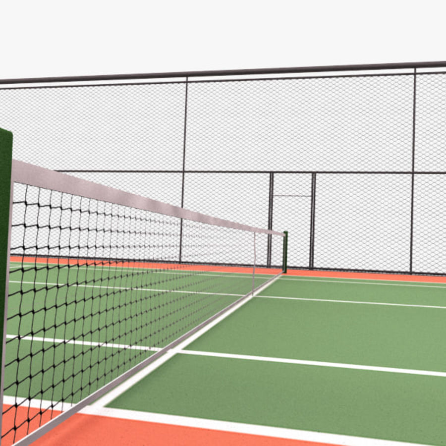 court de tennis royalty-free 3d model - Preview no. 4