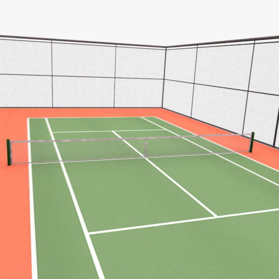 court de tennis royalty-free 3d model - Preview no. 7