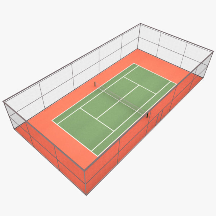 court de tennis royalty-free 3d model - Preview no. 3