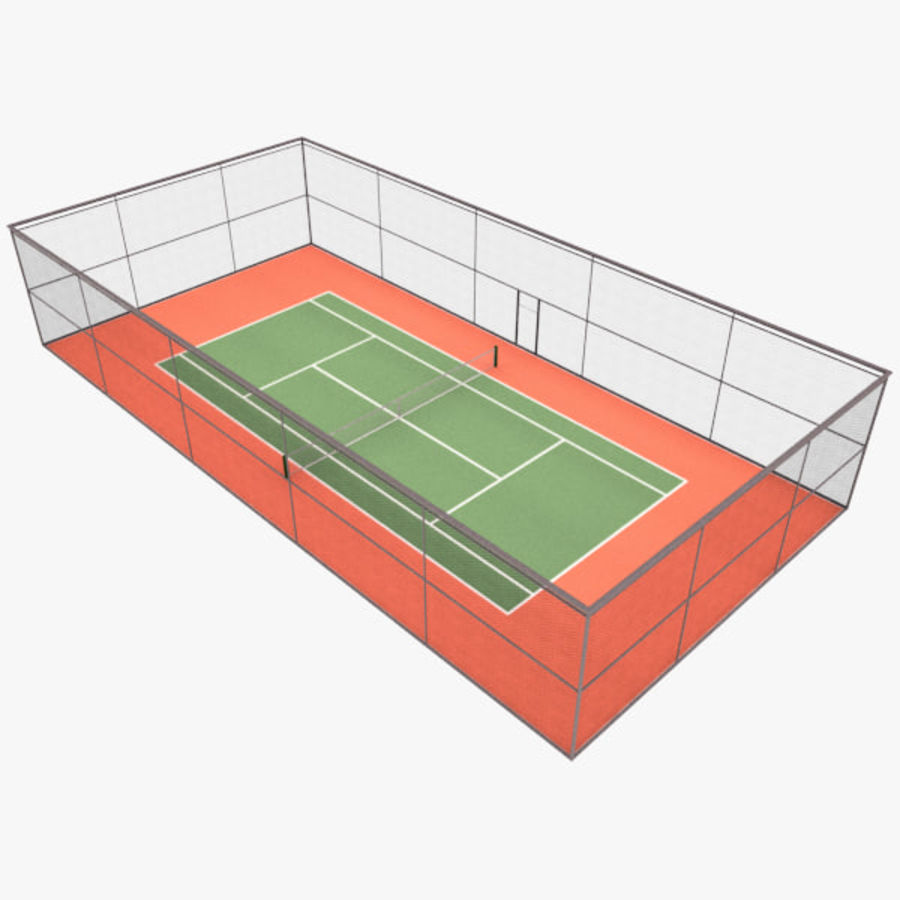 court de tennis royalty-free 3d model - Preview no. 1