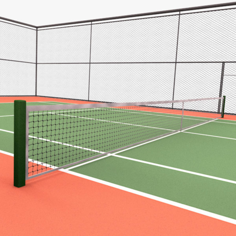 court de tennis royalty-free 3d model - Preview no. 5