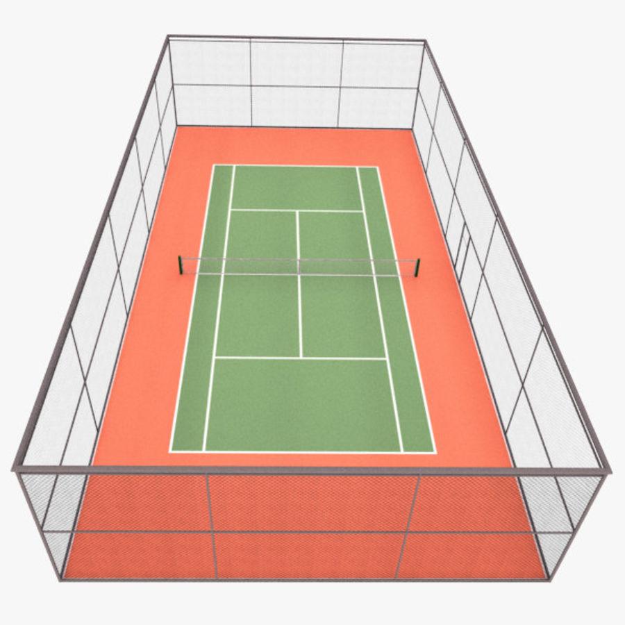 tennisbana royalty-free 3d model - Preview no. 1