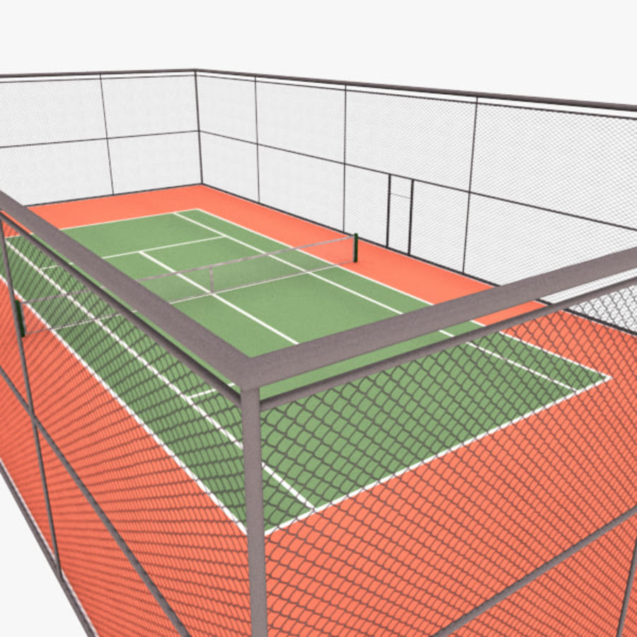 court de tennis royalty-free 3d model - Preview no. 6