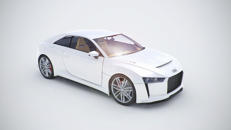 Концепт-купе Audi Quattro (2010) royalty-free 3d model - Preview no. 7