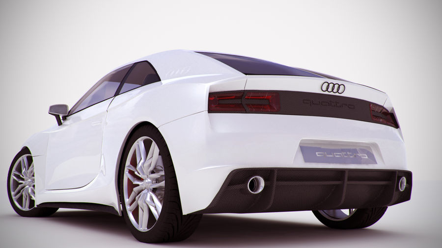 Концепт-купе Audi Quattro (2010) royalty-free 3d model - Preview no. 5