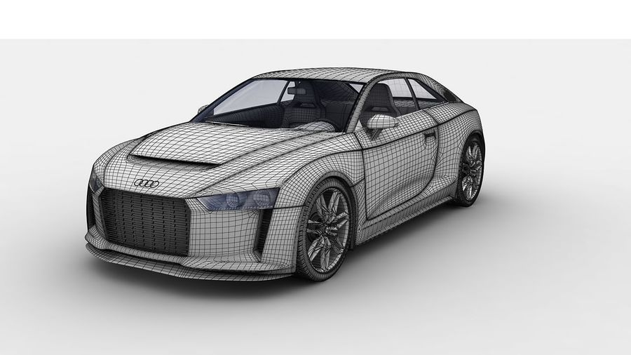 Концепт-купе Audi Quattro (2010) royalty-free 3d model - Preview no. 10