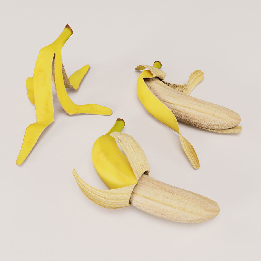 Banana Peels royalty-free 3d model - Preview no. 5