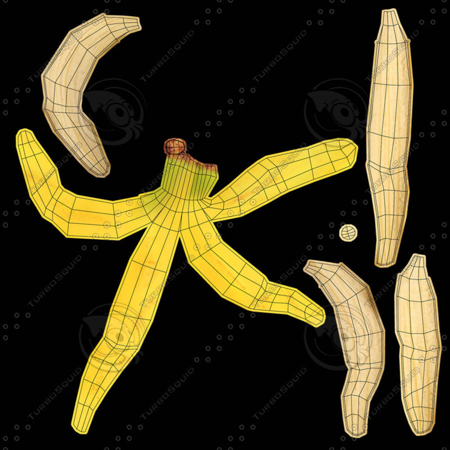 Banana Peels royalty-free 3d model - Preview no. 19