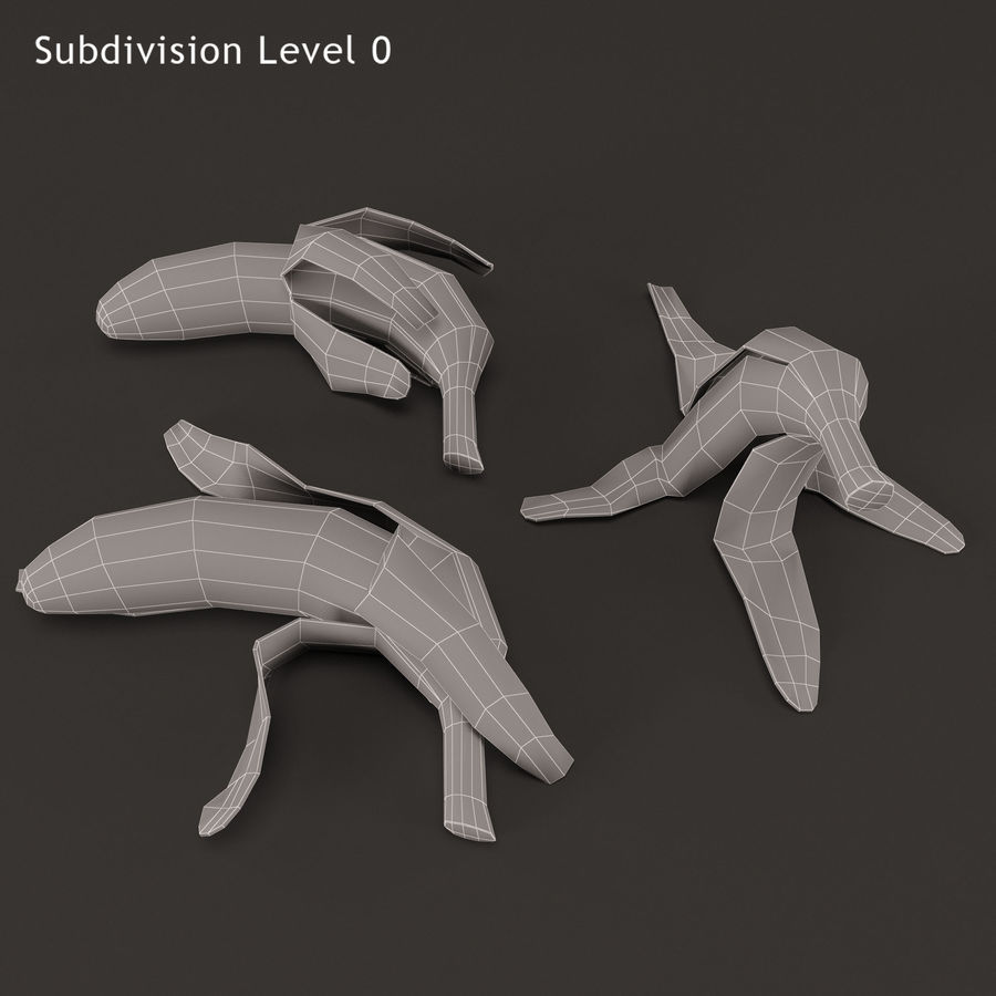 Banana Peels royalty-free 3d model - Preview no. 13