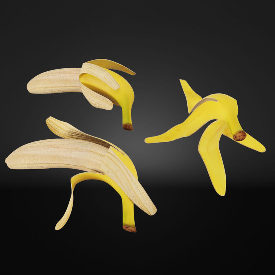 Banana Peels royalty-free 3d model - Preview no. 2