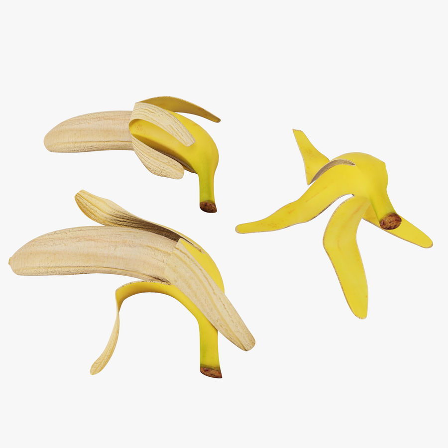 Banana Peels royalty-free 3d model - Preview no. 1