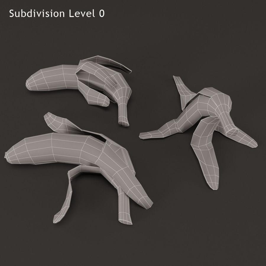 Banana Peels royalty-free 3d model - Preview no. 13