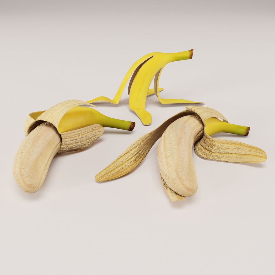 Banana Peels royalty-free 3d model - Preview no. 9