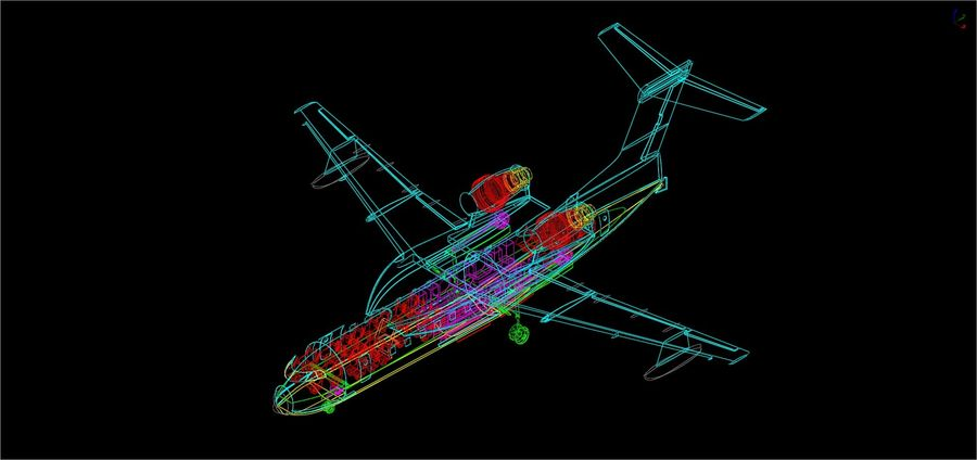 Beriev Be-200 Amphibious Aircraft Solid Assembly Model royalty-free 3d model - Preview no. 15