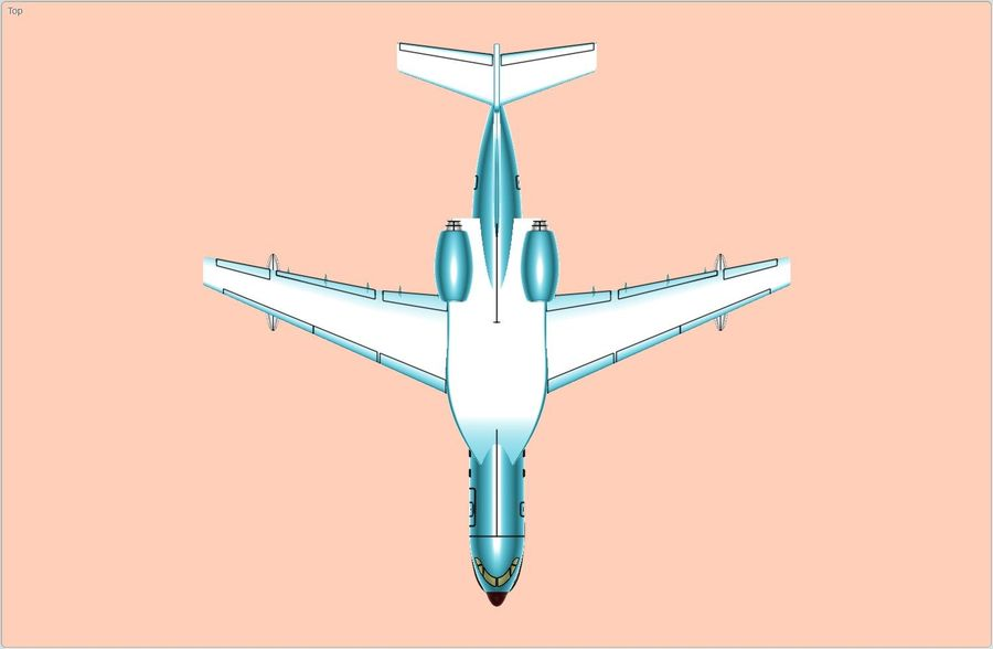 Beriev Be-200 Amphibious Aircraft Solid Assembly Model royalty-free 3d model - Preview no. 5