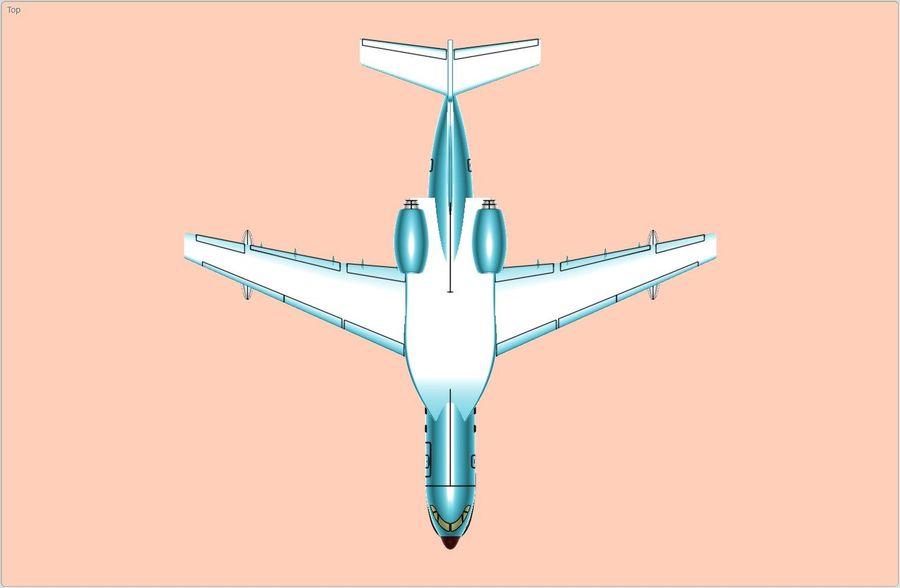 Model bryłowego samolotu amfibijnego Beriev Be-200 royalty-free 3d model - Preview no. 5
