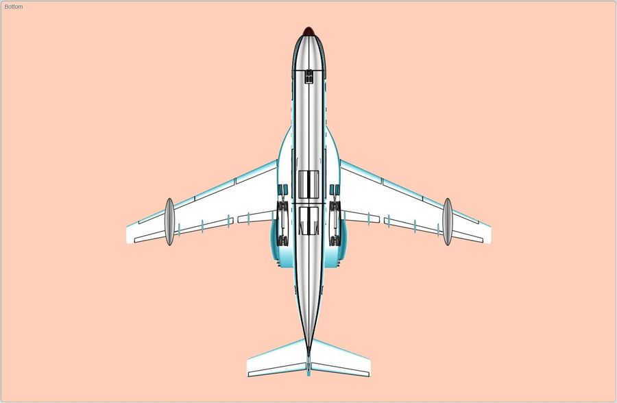 Beriev Be-200 Amphibious Aircraft Solid Assembly Model royalty-free 3d model - Preview no. 6