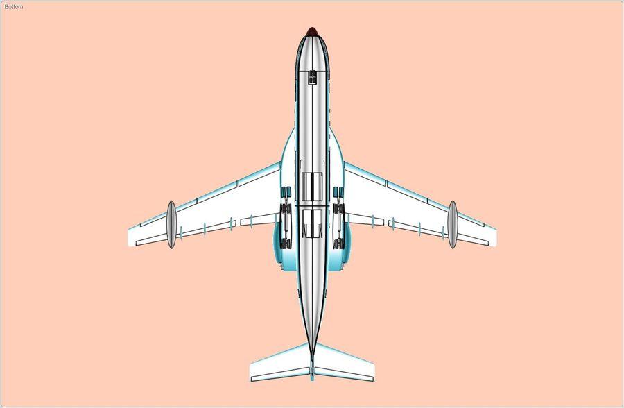 Model bryłowego samolotu amfibijnego Beriev Be-200 royalty-free 3d model - Preview no. 6