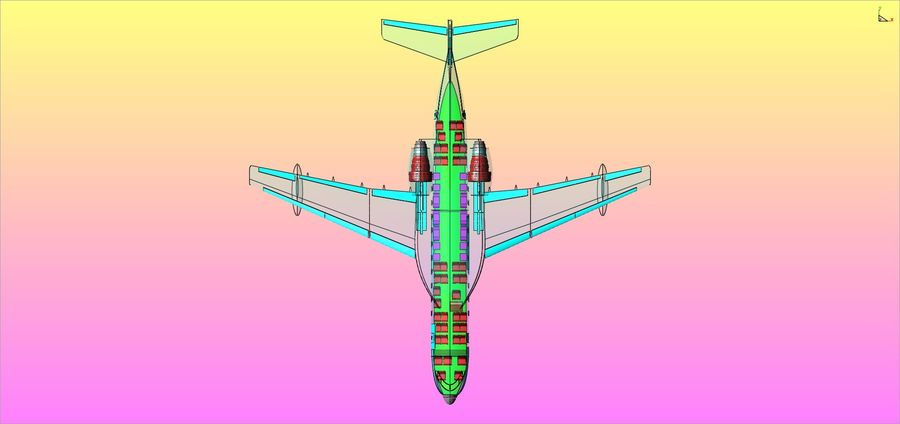 Beriev Be-200 Amphibious Aircraft Solid Assembly Model royalty-free 3d model - Preview no. 22