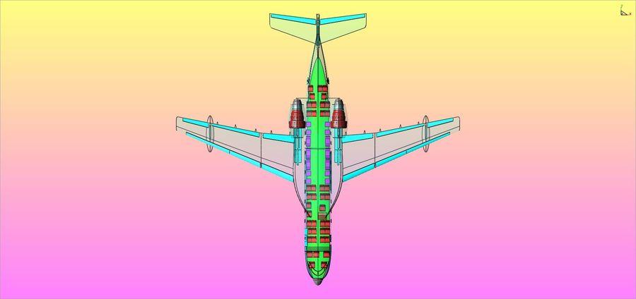 Model bryłowego samolotu amfibijnego Beriev Be-200 royalty-free 3d model - Preview no. 22