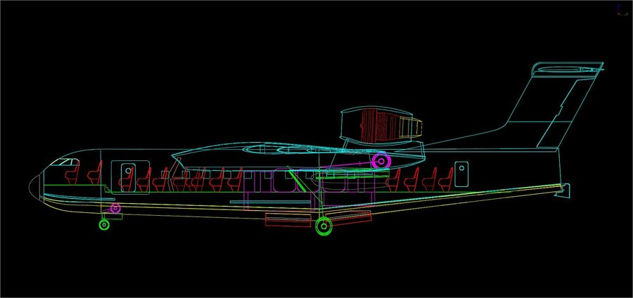 Beriev Be-200 Amphibious Aircraft Solid Assembly Model royalty-free 3d model - Preview no. 16