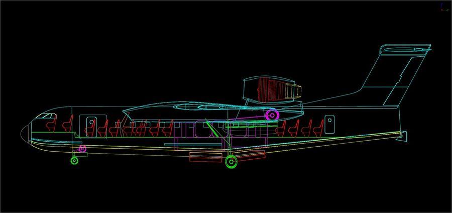 Model bryłowego samolotu amfibijnego Beriev Be-200 royalty-free 3d model - Preview no. 16
