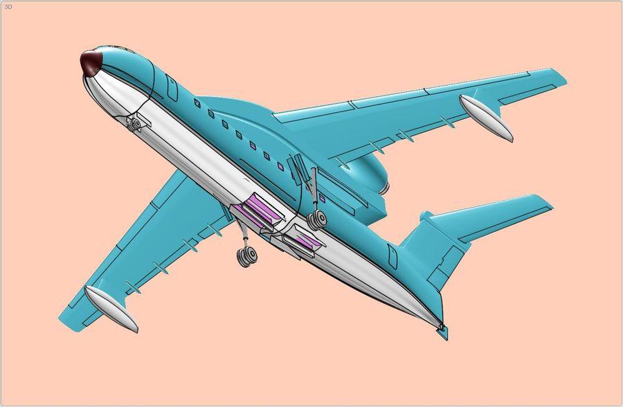 Model bryłowego samolotu amfibijnego Beriev Be-200 royalty-free 3d model - Preview no. 8