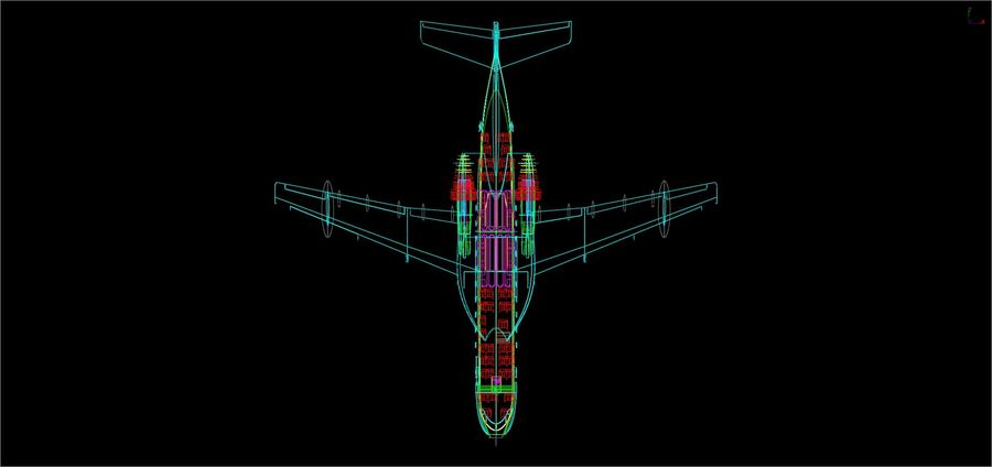 Beriev Be-200 Amphibious Aircraft Solid Assembly Model royalty-free 3d model - Preview no. 17