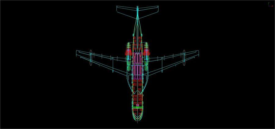 Model bryłowego samolotu amfibijnego Beriev Be-200 royalty-free 3d model - Preview no. 17