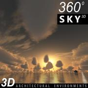 Sky 3D Sunset 039 3d model