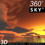 Sky 3D Sunset 013 3d model