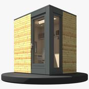 Studio de jardin préfabriqué 3d model