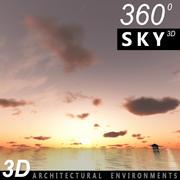 Sky 3D Sunset 042 3d model