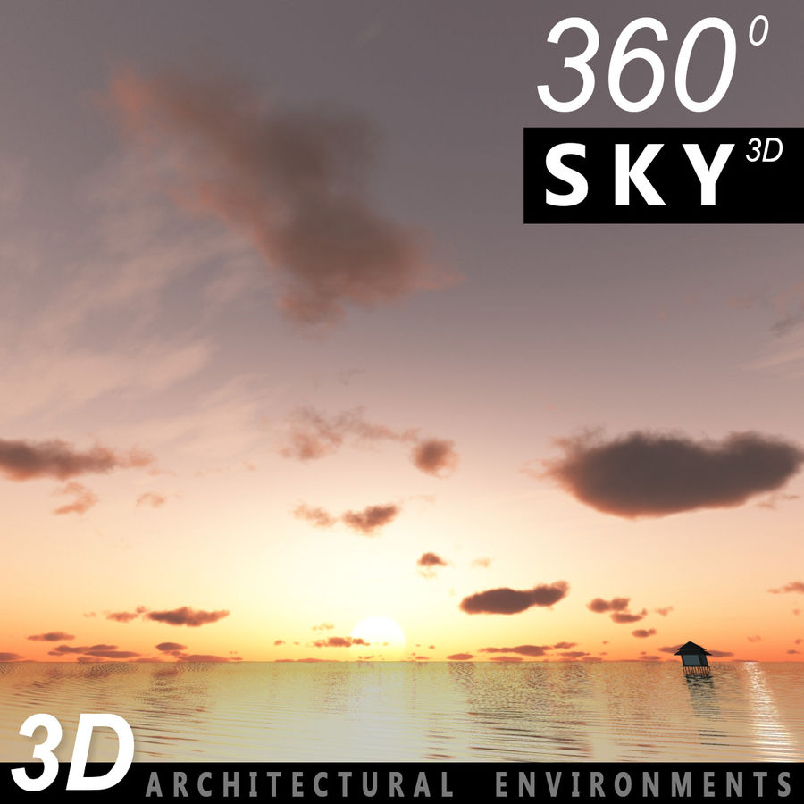 Sky 3D Sunset 042 royalty-free 3d model - Preview no. 1