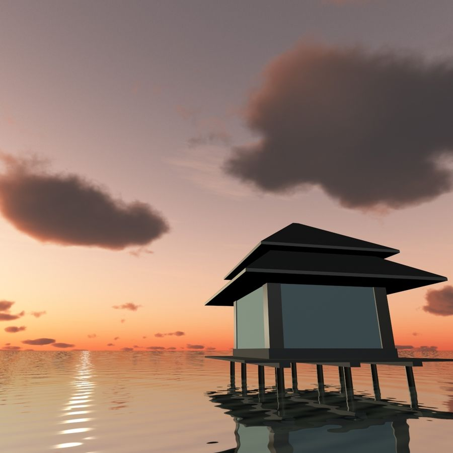 Sky 3D Sunset 042 royalty-free 3d model - Preview no. 5