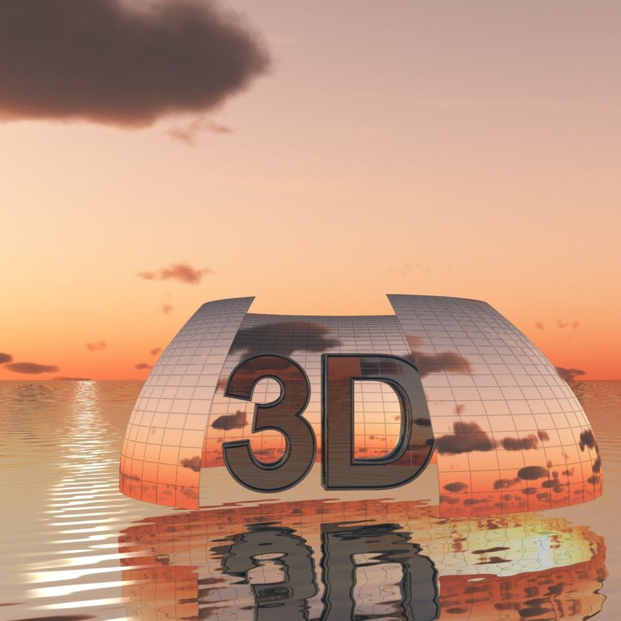 Sky 3D Sunset 042 royalty-free 3d model - Preview no. 2